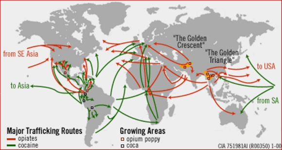 International drug routes in the 21st century