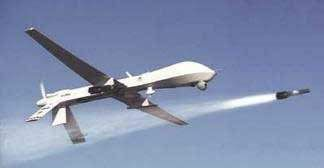 Hellfire missile fired from Predator drone