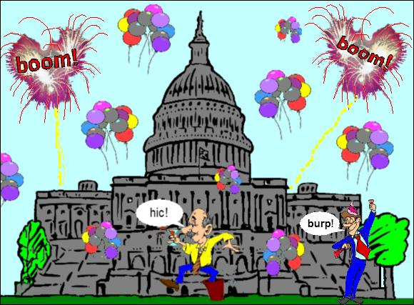 What do government workers do? Party! —this drunken party of greed gone mad is NOT the plan our founders envisioned!