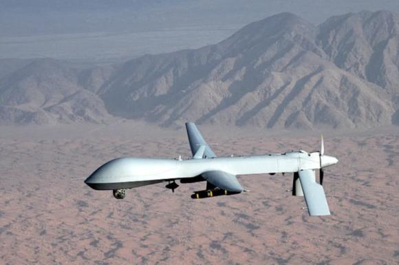 Predator Drones would swat down any dissenters in the neoconservative's most beloved wet dream of world domination (for peaceful purposes, mind you!)
